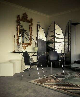 Six Vico Magistretti chairs with arms Italian Mid Century Modern Kartell design