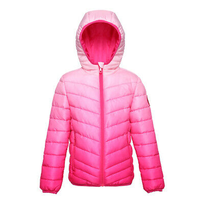 Girls' Lightweight Reversible Water Resistant Quilted Puffer Jacket Coat Outwear