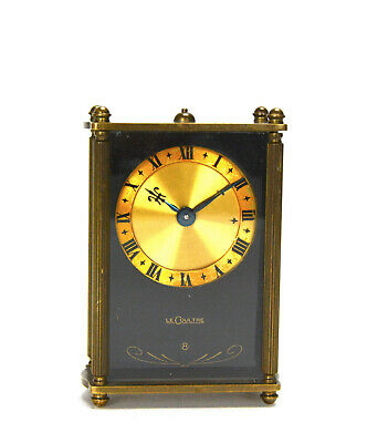 Rare Original Antique Swiss LeCoultre 8 Day Musical Alarm Miniature Table Clock