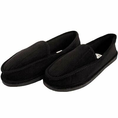 Bright Men's Corduroy Black House Slippers House Shoes