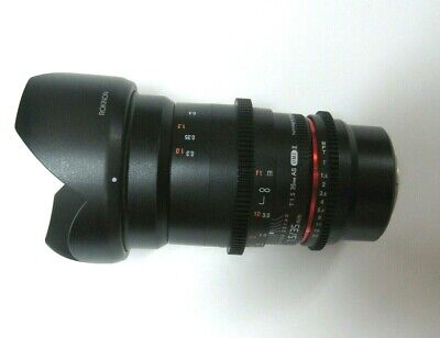 L@@K Rokinon 35mm T1.5 AS UMC II Lens for Canon EF Mount with Hood MINT