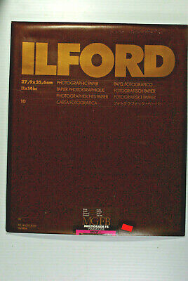 "Ilford Multigrade FB Warmtone  Enlarging Paper, Glossy, 11x14"", 10 Sheets, NOS"