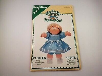 Sewing Pattern Butterick Cabbage Patch Kids Clothes 5357 See & Sew Cut & Counted
