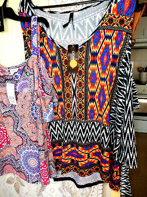 Bulk Lot 8  New Tops Mixed Sizes 14 To 24