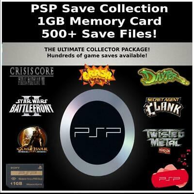 PSP Save Collection | 350+ Saves | 100% Complete | PlayStation Portable