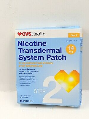CVS Step 2 Nicotine ( 14 mg ) Transdermal System Patch  14 PATCHES.  Exp : 05/20