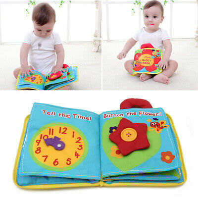 Baby Kids Intelligence Development Toys Cloth Bed Cognize Books Educational Toy