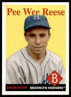 2019 Topps Archives 1958 Base #39 Pee Wee Reese - Brooklyn Dodgers