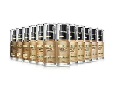 2 x Max Factor Miracle Match Blur & Nourish Foundation 30ml - Various Shades