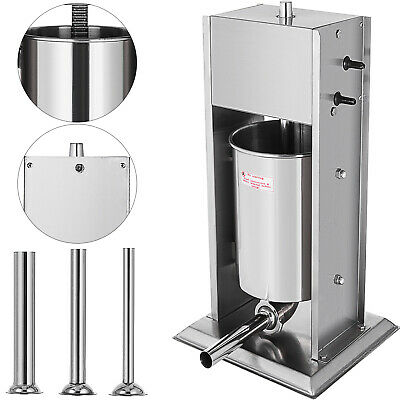 7L Sausage Stuffer Filler Maker Meat Machine Home Use Stainless Steel Business