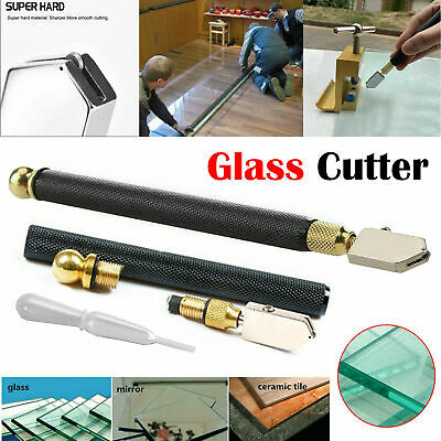 Professional Precision Glass Cutter Blade Oil Lubricate Mirror Cutters With Grip