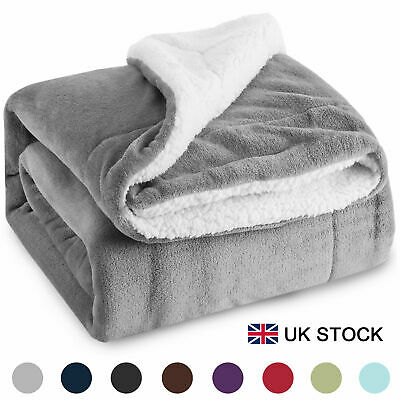 Bedsure Sherpa Blanket Fleece Throw Reversible Blanket for Bed and Couch 150*200