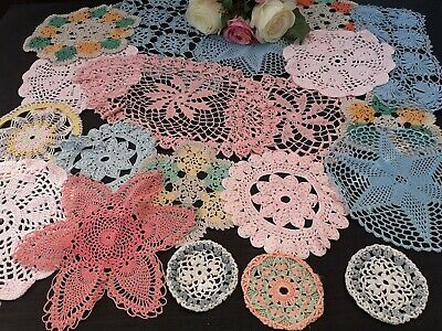 20 Color Vintage Crochet Doilies.for Weddings/Crafts.