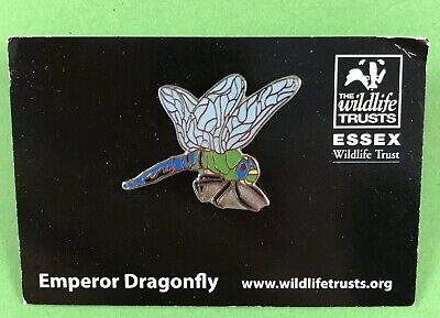 Essex Wildlife Trust Pin Badge - Emperor Dragonfly NOT RSPB Dragon Fly Insect