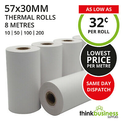 Premium EFTPOS Rolls 57x30mm Thermal Paper for Cash Register Receipts