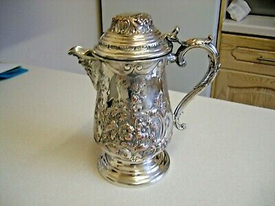 Antique Silver Plated George II Style Tankard Shaped Jug (2257)