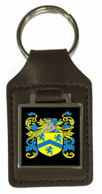 Stark Heraldry Surname Coat Of Arms Brown Leather Keyring Engraved