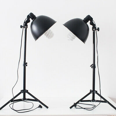 2x Mini Studio Photography E27 Lights with stands