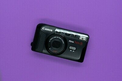 Canon Prima Twin S - 35mm point and shoot film camera - tested & working