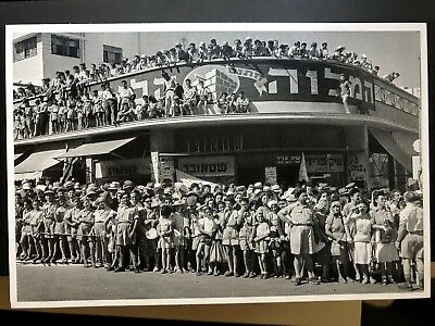 8 Postcards of Tel Aviv, Palestine, Israel -- New Printing -- 1936 - 1959