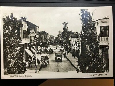 TEL AVIV - HERZL STREET NO.3  REAL Photo, Palestine, the land of Israel 1939
