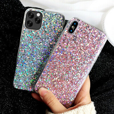 Bling Sparkle Glitter Soft Slim Case Cover For iPhone 11 5.8'' 6.1'' 6.5'' 2019