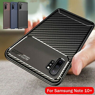 For Samsung Note 10+ S10 5G S9 Case Slim Carbon Fiber TPU Soft Matte Phone Cover