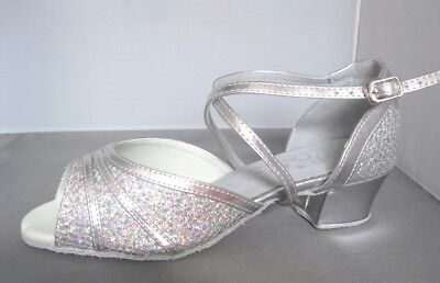 Ladies Silver Ballroom, Latin, Salsa, Jive Dance Shoes - UK Sizes 3 - 8.5