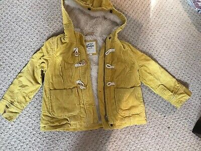 Mini Boden Yellow Cord Coat 5-6 Yrs Used Condition