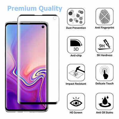 For Samsung Galaxy S10 / Plus Premium Screen Protector Tempered Glass FULL COVER