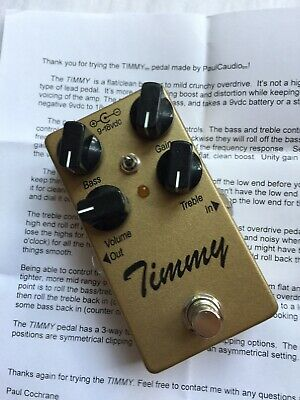 Paul Cochrane Timmy Overdrive Pedal V. 2.2 GOLD