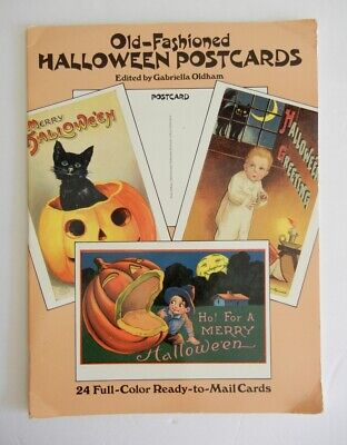 Old-Fashioned Halloween Postcards Gabriella Oldham 24 Repro Vintage Mail Cards