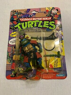 Teenage Mutant Ninja Turtles Leo the Sewer Samurai Playmates 1990 Open Box