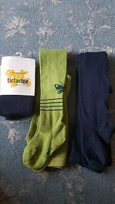 Navy/Green Girls Quality Tights  - 1 BNWT 2 x Unworn no tags. Age 2 - 4 years