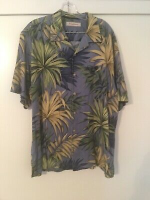 "Chest = 25.5/"" - 27/"" Across Tommy Bahama XL Silk Short Sleeve Hawaiian Shirts"