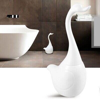 Escobillas de baño Cisne forma Bathroom de cerámica con mango Toilet Brush Set