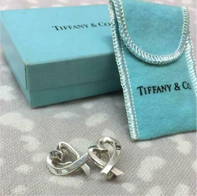 TIFFANY & Co. Paloma Picasso Sterling Silver Loving Heart Earrings from JP FS