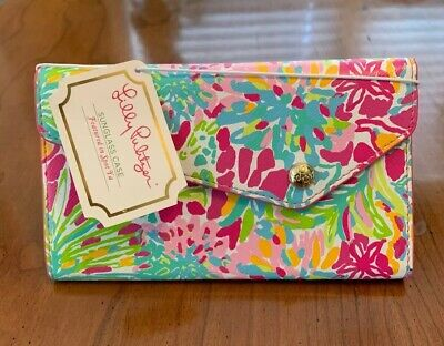 NWT Lilly Pulitzer Sunglass Eyeglass Holder Case Collapsible Featured In SPOT YA