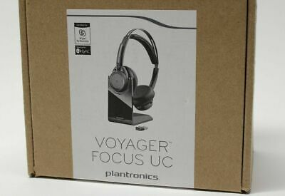 NEW Plantronics Voyager Focus UC B825-M Headset with CHARGING STAND 202652-02