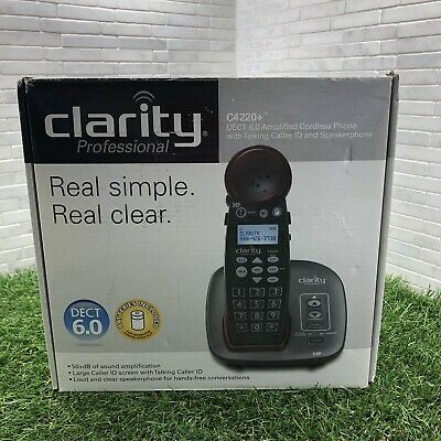 Clarity Professional C4220+DECT6.0 Amplified Cordless phone/Talking Caller ID...