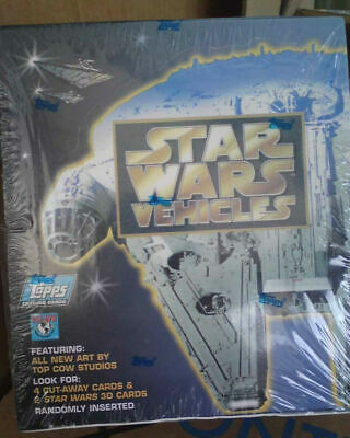 star wars vehicles trading card box 1997 - 36 packets in a new and sealed box
