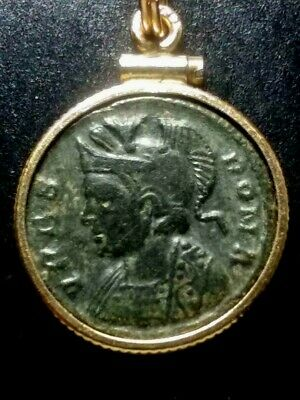 Constantine Great Constantinople VRBS ROMA Ancient Roman Coin GoldFilled Pendant