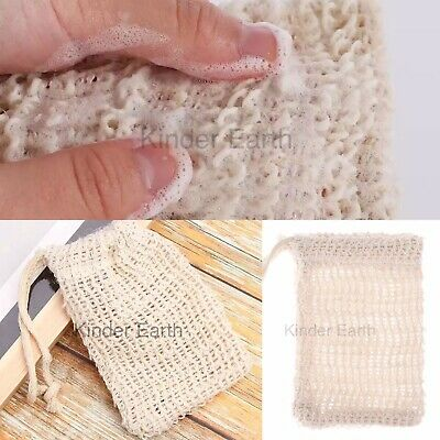 Eco-friendly Natural Sisal Soap Saver Bag/Mesh/Net For Shower/Bath/Wash UK