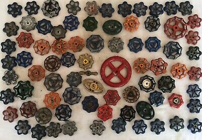 80 Vintage Valve Handles Water Faucet Knobs STEAMPUNK Industrial Lot Eighty