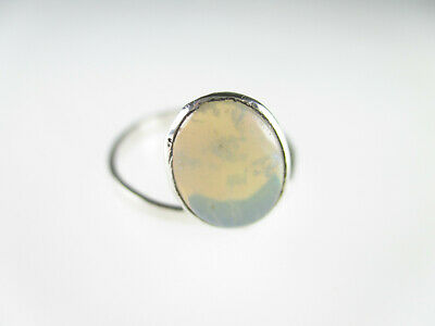 925 Sterling Silber Ring Opal Edelstein Modernist Vintage silver ring gem 16,75