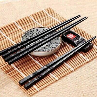 1 Pair wooden Chopsticks Japanese style Chinese Kuaizi Long Sticks Non-Slip