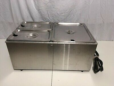 SERVER PRODUCTS FS-20E Food Warmer Commercial Grade Heavy Duty w 3 Vollrath Pans