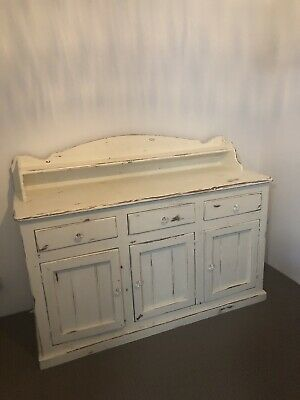 Antique Shabby Chic French Provincial Sideboard Dresser