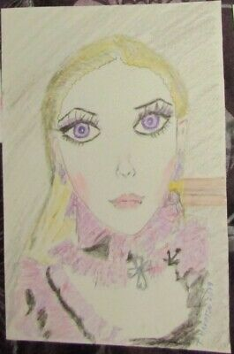 Evangeline Ghastly Watercolor Art of Haunted Melody Doll