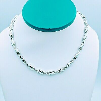 """Tiffany & Co Vintage Elsa Peretti Seahorse Link Sterling Silver Necklace 16"""""""